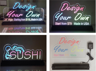 Edge Lit LED Signs