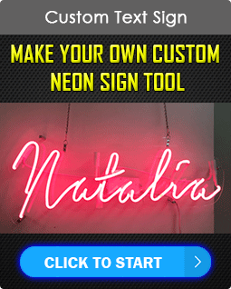 Custom Neon Text Sign